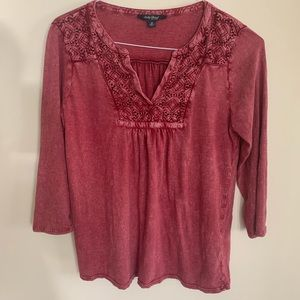 Lucky Brand Red Top